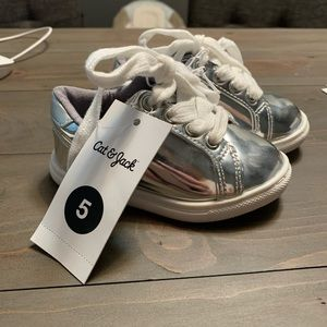 Cat & Jack Shoes - Cat & Jack Baby/Toddler Shoes Silver Sneakers